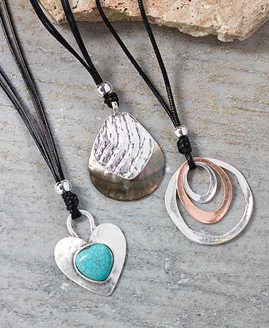 Artisan Pendant Necklaces or Stone Bracelets