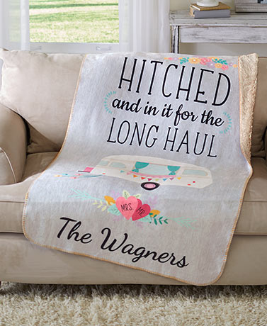 Personalized Couples Sherpa Throws
