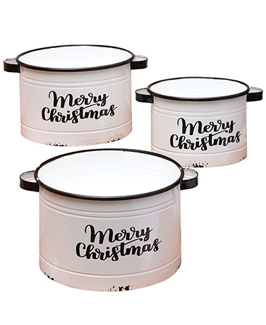 Enamelware Holiday  Planters