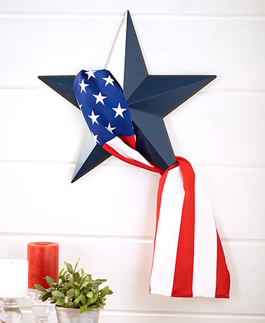 Americana Star and Flag Wall Hanging