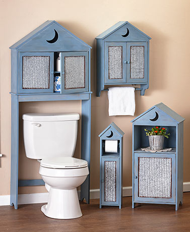 Outhouse Bath Furniture with Galvanized Accents
