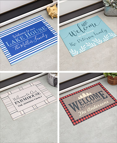 Personalized Themed Welcome Mats
