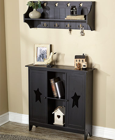 Country Storage Cabinet or Wall Shelf