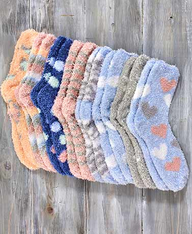 8-Pair Super-Soft Slipper Socks