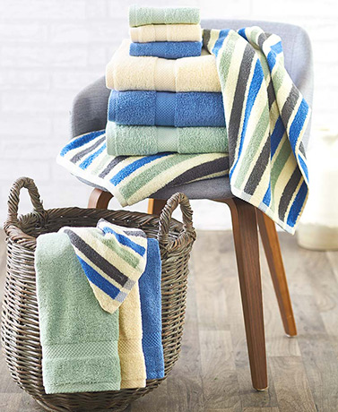 3-Pc. Low-Twist Bath Towel Sets