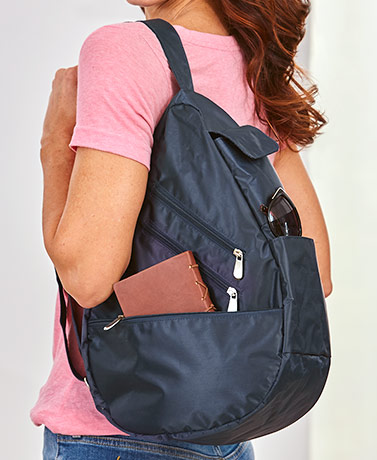 Women's RFID Sling Backpack Purses