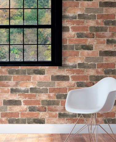 Reclaimed Brick NuWallpaper™ Peel and Stick Wallpaper