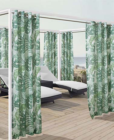 IndoorOutdoor Solid or Printed Curtain