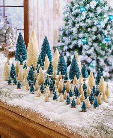 40-Pc. Bottle Brush Tree Sets