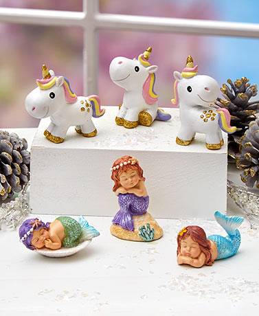Sets of 3 Whimsical Mini Figurines
