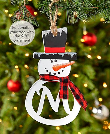 Snowman Monogram Ornaments