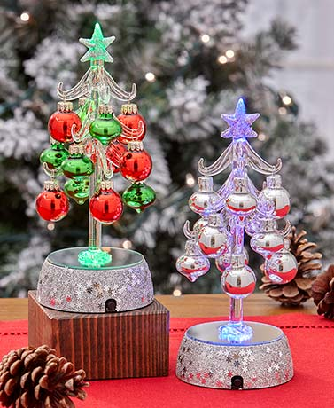 LED Mini Ornament Trees