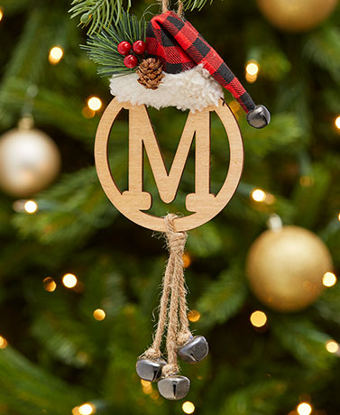 Christmas Monogram Bell Ornaments