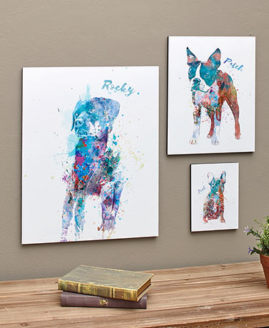 Personalized Watercolor Dog or Cat Breed Wall Art
