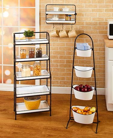 Farmhouse Enamel-Look Kitchen Storage