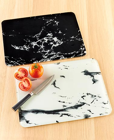 Marble-Look Glass Cutting Boards