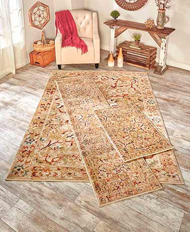 Vintage-Look Floor Rugs - LinenSlate