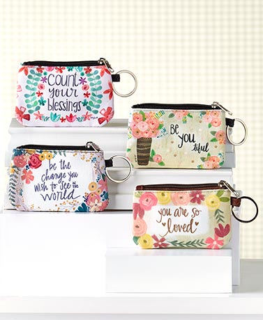 Women's Inspirational Zipper ID Wallets