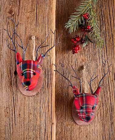 Deer Head Ornaments