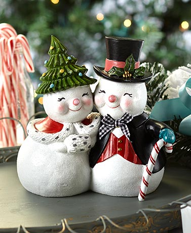 Christmas Snowman Couple