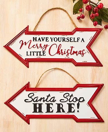 Oversized Christmas Arrow Sign Ornaments