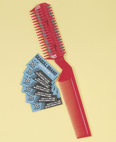Hair Cutting Razor Comb