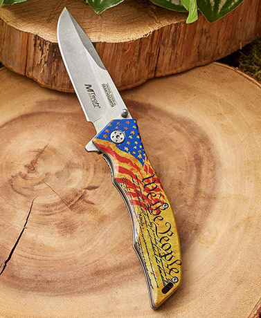 American Flag Folding Knife