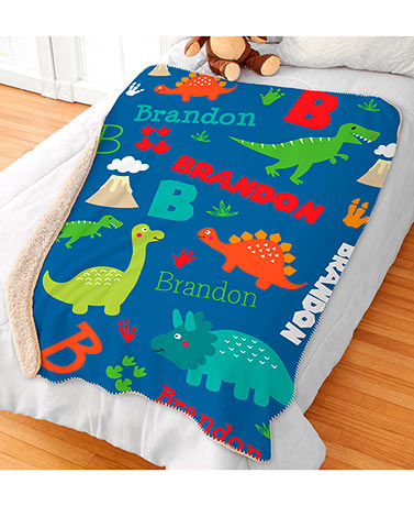 Personalized Kids' Sherpa Throws