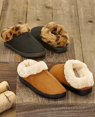 Women's Microsuede Clog Slippers