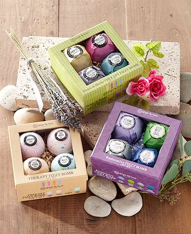 4-Pc. Therapeutic Bath Bomb Gift Sets
