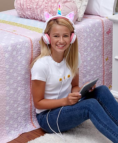 Light-Up Unicorn Headphones