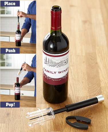 Mechanical Air Pump Wine Opener Set