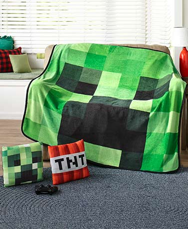 Minecraft Creeper Throw or 2-Pk. Pillows