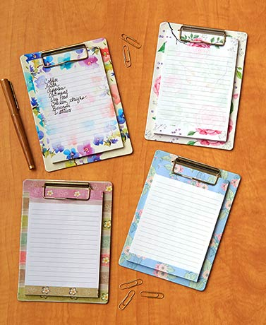 Sets of 4 Magnetic Clipboards with Notepad