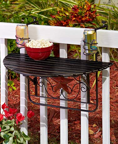 Folding Deck Tables - Black