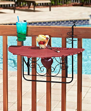 Folding Deck Tables - Red