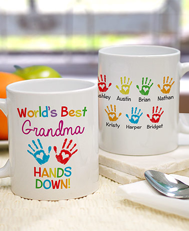 "Personalized ""Hands Down"" Coffee Mug"