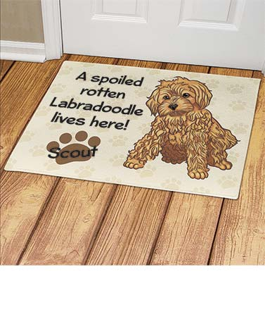 Personalized Spoiled Dog Breed Doormats