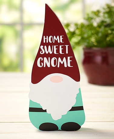 Gnome Tabletop Block Sign