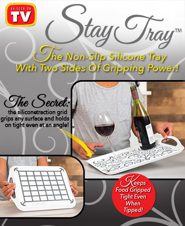 Stay Tray™ Nonslip Grip Tray