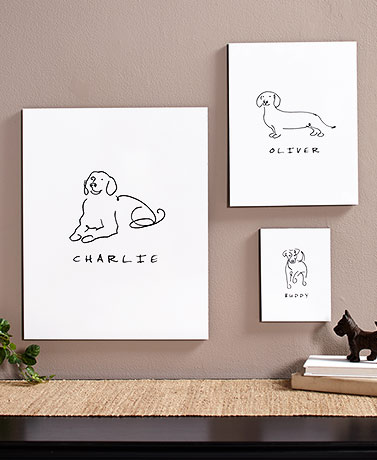 Personalized Dog or Cat Line Drawing Wall Art