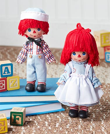 "7"" Precious Moments™ Raggedy Ann or Andy Doll"