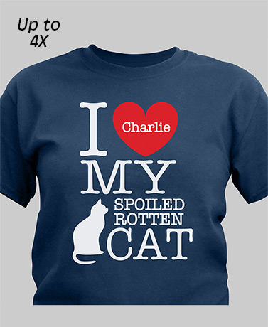 Spoiled Rotten Cat Personalized T-Shirt