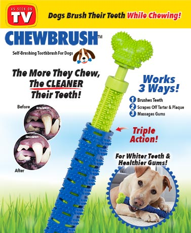 Chewbrush™ Self-Brushing Toothbrush for Dogs