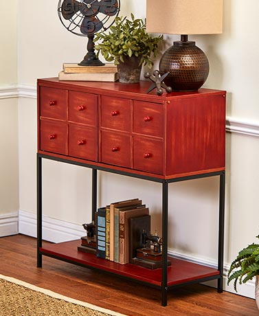 Apothecary-Style Console Cabinets