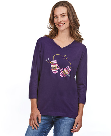 Winter Theme Long-Sleeved T-Shirts