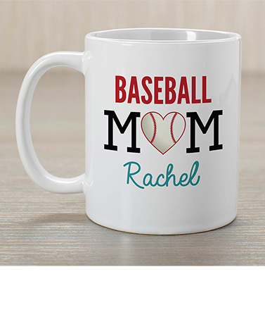 Personalized Sports Mom Coffee Mugs