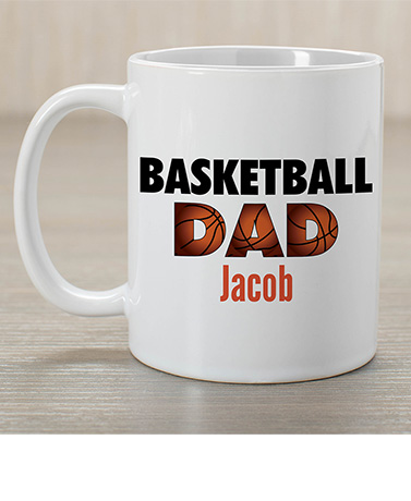 Personalized Sports Dad Coffee Mugs
