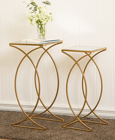 Set of 2 Glass Nesting Tables