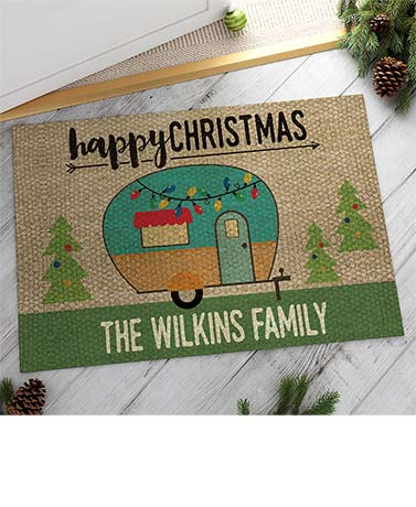 Personalized Christmas Camper or Truck Doormats